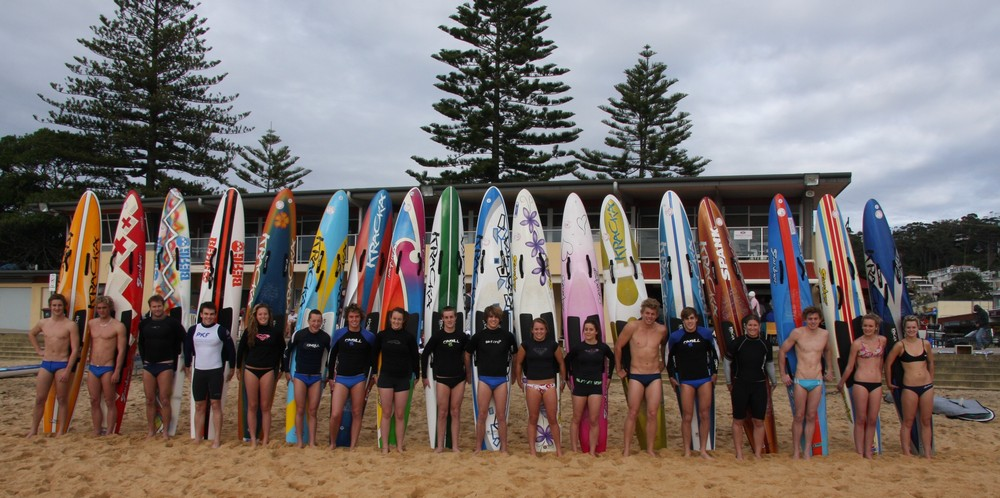 21 Terrigal Boards Upright in front of new club cropped