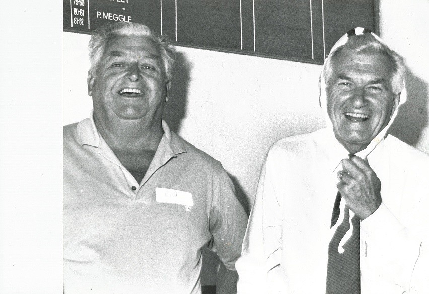 234 The entrance member & bob hawke with clubby cap