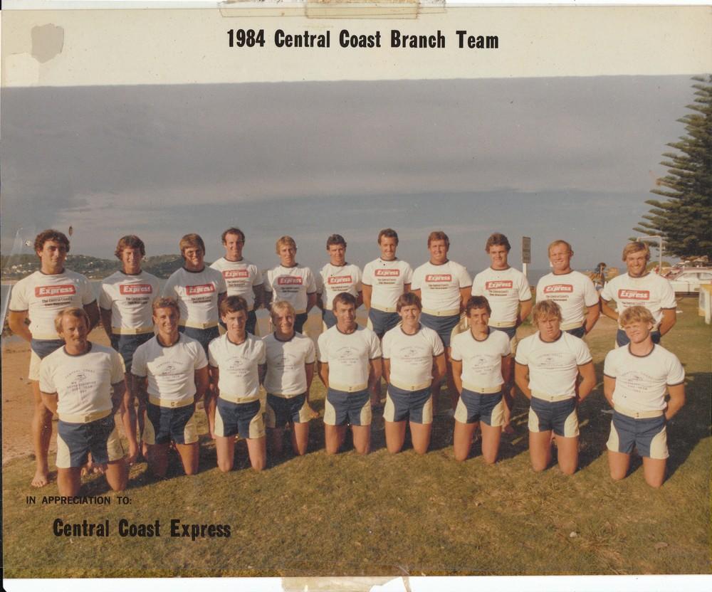 6 1984 Central coast Branch Team