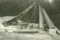 53 Umina original tent blown down