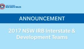 Coast IRB Athletes Named in NSW IRB Development Team