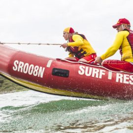 Soldiers Beach SLSC save Grateful Rock Fisherman